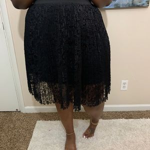 Classy black lace skirt